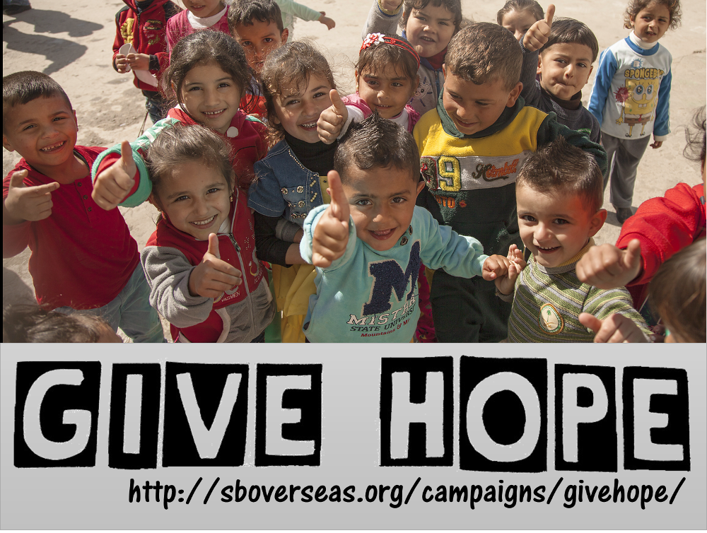 SB Overseas launches Give Hope campaign