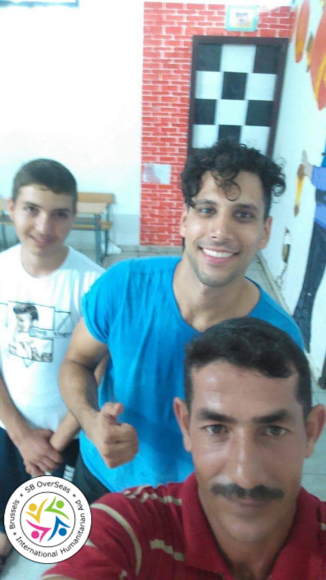 Volunteers bring fitness to the men of Saida